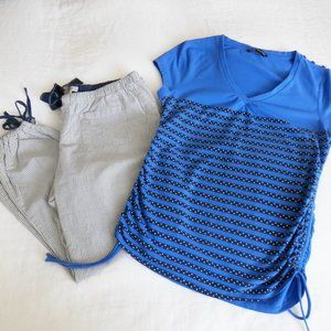 Tops - ❤ Comfy Blue Short Sleeve Tee Sides Size M